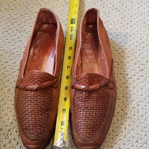 Mens leather loafers vintage from Europe